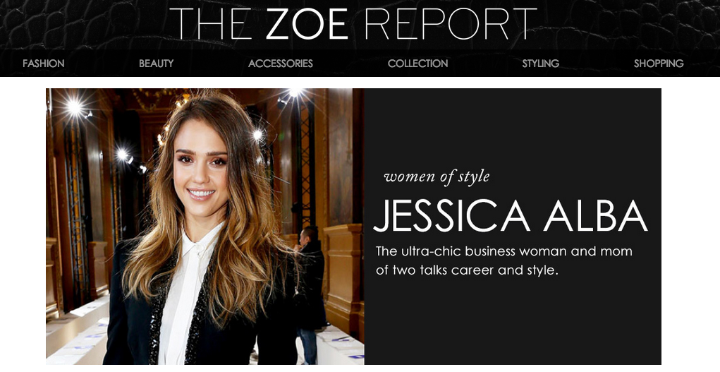 homepage view of the zoe report